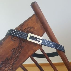 """Leather studded Guess belt black small EUC 34"""""""